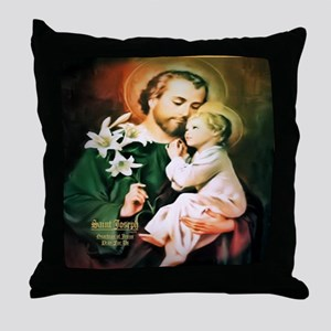 St Joseph Guardian of Jesus Throw Pillow