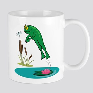 Whimsical Leaping Frog Mug
