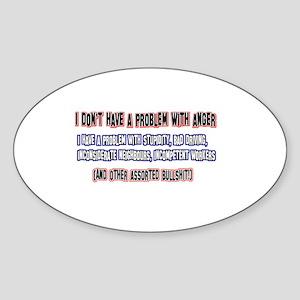Anger management designs Sticker (Oval)
