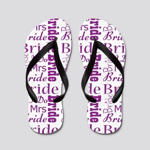726d06b095e6fe Purple Bride Flip Flops - CafePress