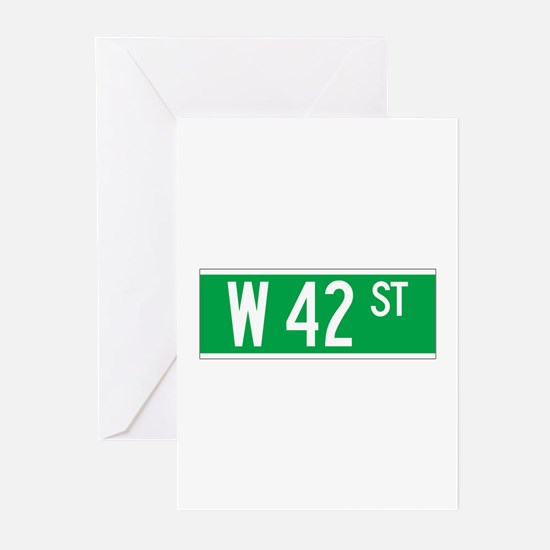 W 42 St., New York - USA Greeting Cards (Package