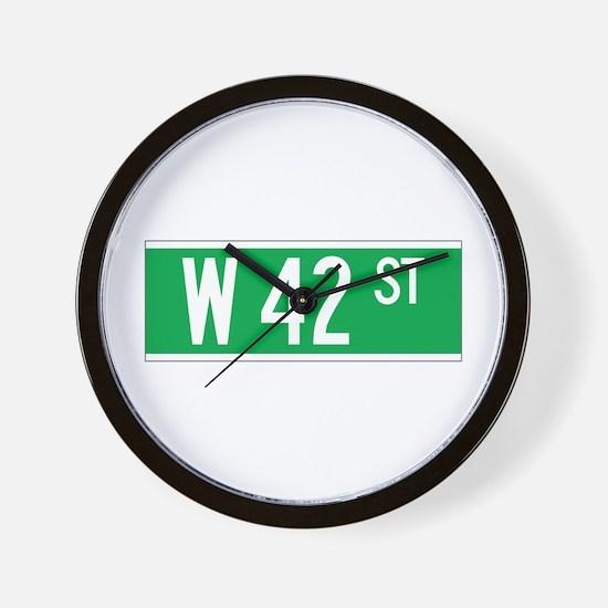 W 42 St., New York - USA Wall Clock