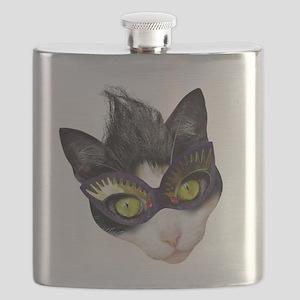 Masked Cat Flask