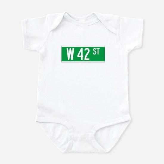 W 42 St., New York - USA Infant Bodysuit