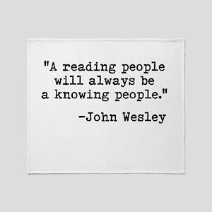 Wesley's Reading People Throw Blanket