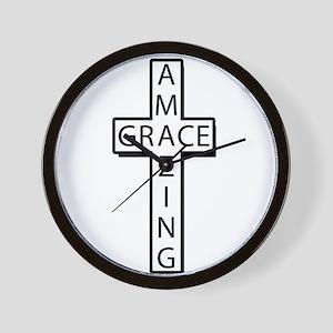 AmazingGrace(cross) copy Wall Clock