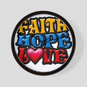 FaithHopeLove copy Wall Clock