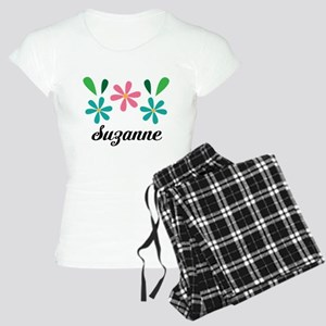 Personalized Daisy Flower Floral Gift Pajamas