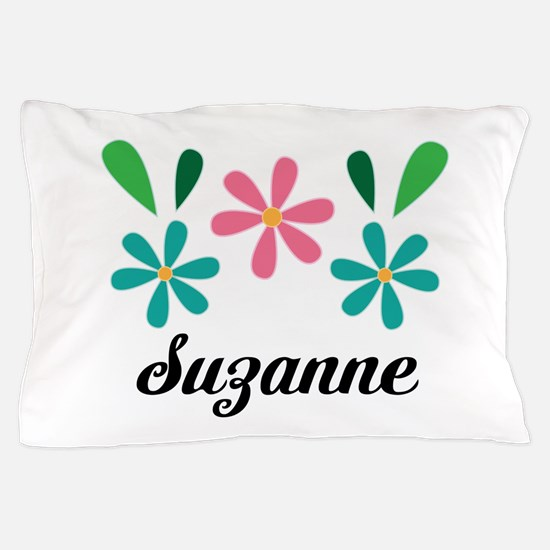 Personalized Daisy Flower Floral Gift Pillow Case
