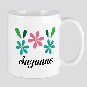 Personalized Daisy Flower Floral Gift Mugs