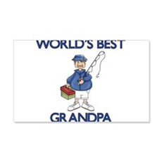 WORLDS BEST GRANDPA Wall Decal