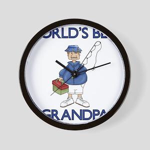 WORLDS BEST GRANDPA Wall Clock