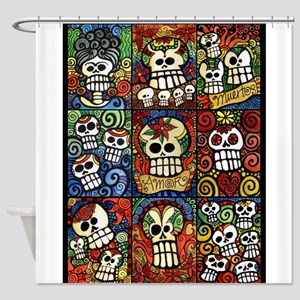 Day of the Dead Sugar Skulls Collec Shower Curtain