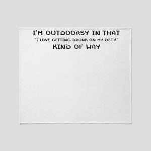 IM OUTDOORSY Throw Blanket
