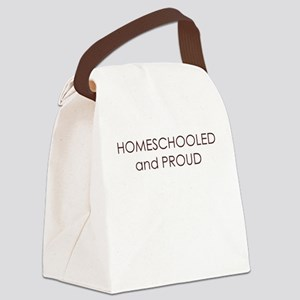 homeschooled and proud Canvas Lunch Bag