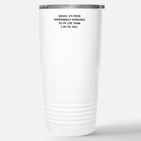 EMOTIONALLY AVAILABLE Travel Mug