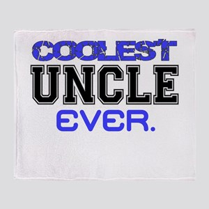 COOLEST UNCLE EVER Throw Blanket