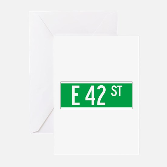 E 42 St., New York - USA Greeting Cards (Package