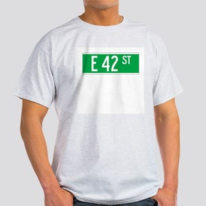 E 42 St., New York - USA Ash Grey T-Shirt