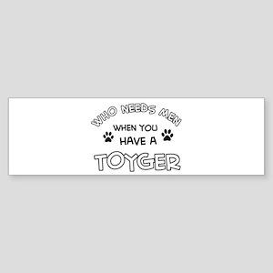 Funny Toyger designs Sticker (Bumper)
