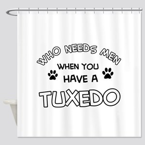 Funny Tuxedo designs Shower Curtain