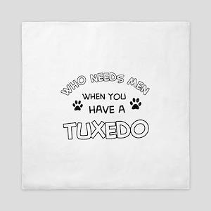 Funny Tuxedo designs Queen Duvet