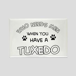 Funny Tuxedo designs Rectangle Magnet