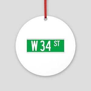 W 34 St., New York - USA Ornament (Round)