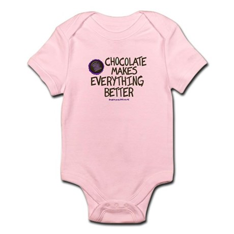 CHOCOLATE MAKES EVERYTHING BETTER Infant Bodysuit