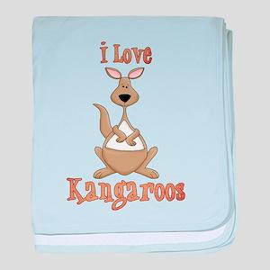 i love kangaroos baby blanket
