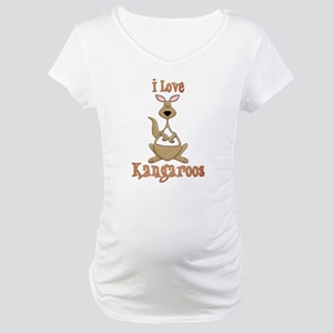 i love kangaroos Maternity T-Shirt