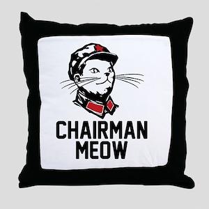 Chairman Meow Throw Pillow