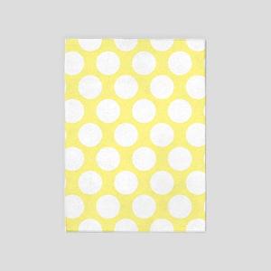 0d25f1bc90db6 Bright Yellow Polkadot 5 x7 Area Rug