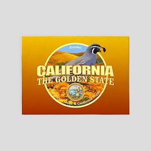 California State Bird & Flower 5'x7'Area Rug