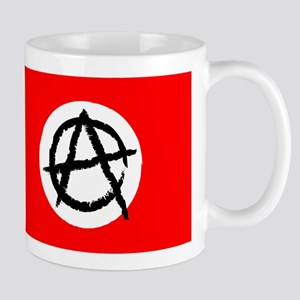 Red & White Anarchy Flag Anonymous Style Mug