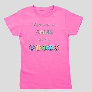 Annie Yelling BINGO Girl's Tee