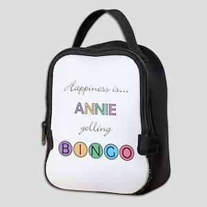 Annie Yelling BINGO Neoprene Lunch Bag