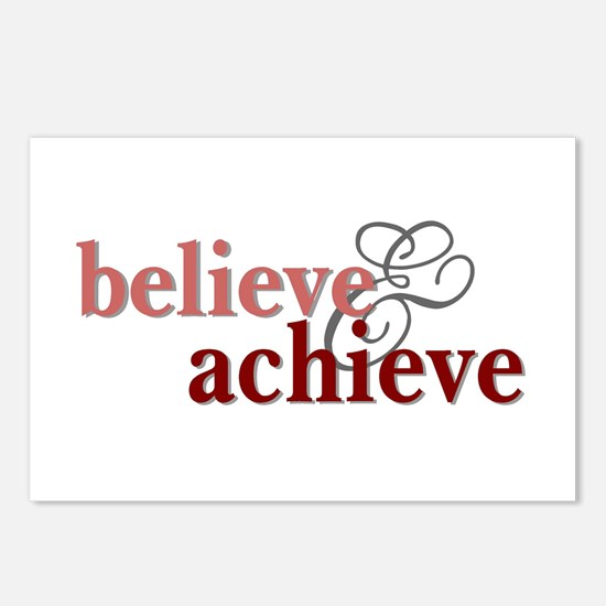 Believe & Achieve Postcards (Package of 8)