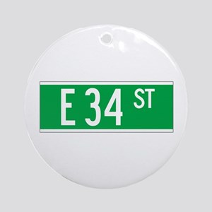 E 34 St., New York - USA Ornament (Round)