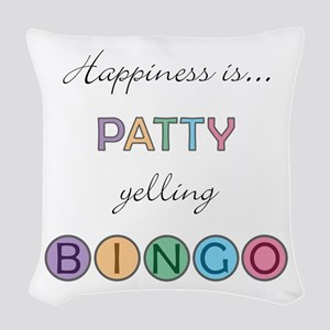 Patty Yelling BINGO Woven Throw Pillow
