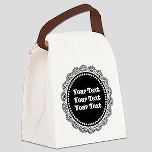 CUSTOM TEXT Gothic Round Canvas Lunch Bag