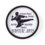 Martial Arts Therapy Wall Clock