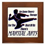 Martial Arts Therapy Framed Tile