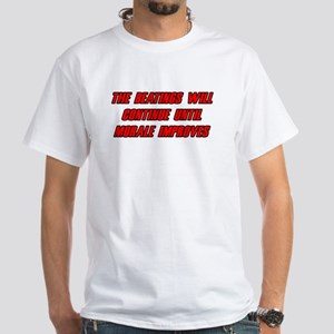 Morale Beatings White T-Shirt