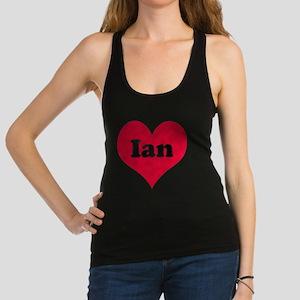 Ian Leather Heart Racerback Tank Top
