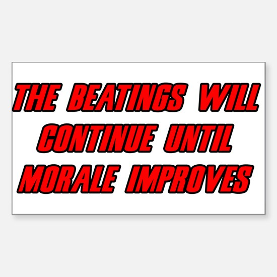 Morale Beatings Rectangle Decal