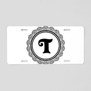 CUSTOM INITIAL Elegant Round Aluminum License Plat