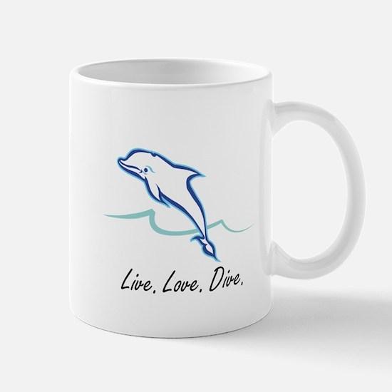 Live. Love. Dive. Mug