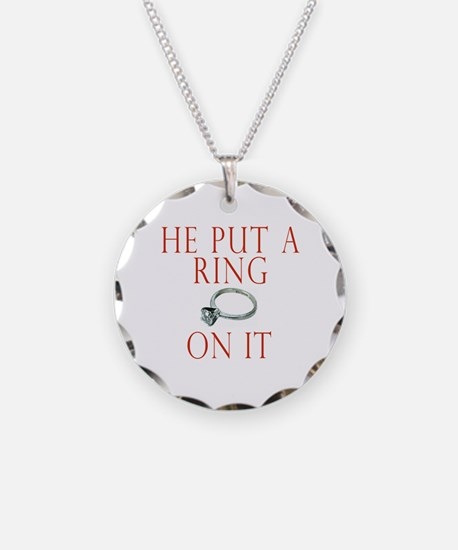 He Put a Ring on It Necklace