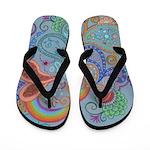 Flip Flops Rainbow Paisley